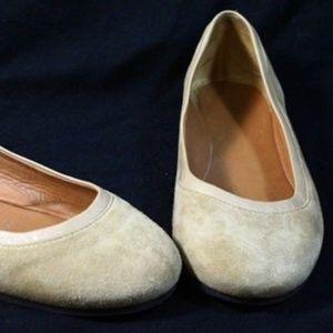 Givenchy Paris Tan Suede Ballet Flats Size 6.5